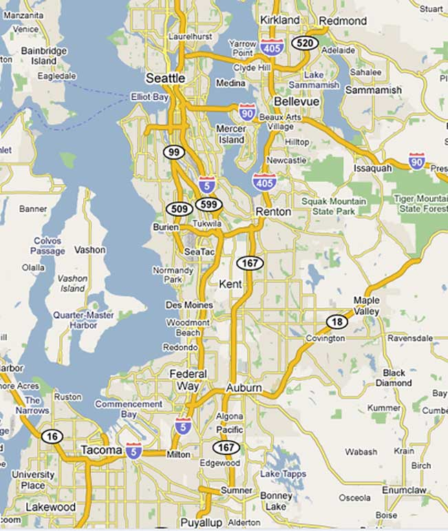 Service Areas Always On Guard Security Services Seattle Washington - Map puget sound area